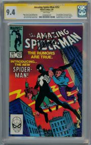 Amazing Spider-man #252 CGC 9.4 Signature Series Signed Stan Lee First Spider-man Black Costume Marvel comic book